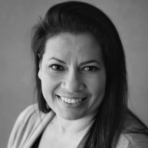 Gabriela Bazan Black and White Headshot